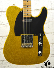 2014 Fender Limited Edition Baja Telecaster Gold Sparkle w/ Gig Bag