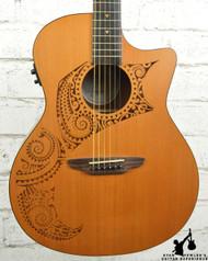 Luna OCL Tat Oracle Grand Concert Tattoo Acoustic Electric
