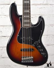2015 Fender American Deluxe Jazz Bass V Sunburst w/ OHSC