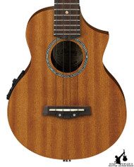 Ibanez UEW5E Exotic Wood Concert Acoustic Electric Ukulele Open Pore Natural