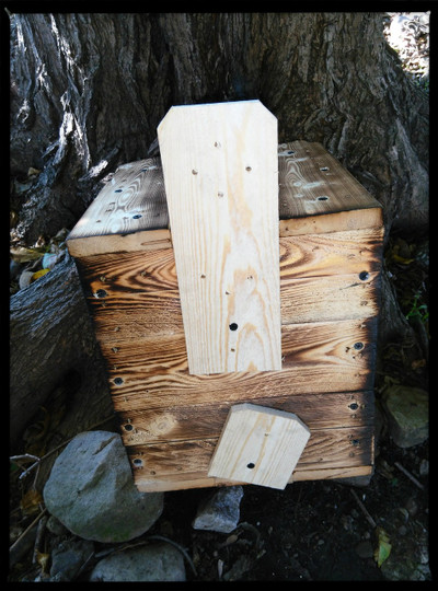 Brackets are already attached for you on all our products (picture  is not bat house)