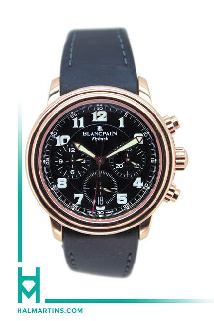 Blancpain 18K Rose Gold Leman Flyback Chronograph - Ref. 2185F