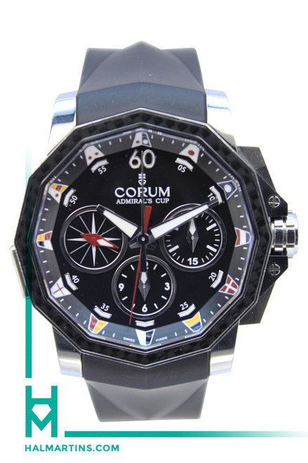 Corum Admirals Cup Challenge 44 Split Seconds SS - Black Dial - Ref. 01.0035/753.693.20