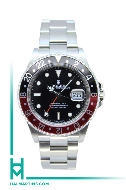 Rolex Stainless Steel GMT Master II - Black and Red Coke Bezel - Ref. 16710 (Item 11898)