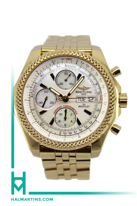 Men's Breitling Bentley GT Ltd. Ed. - 18k Rose Gold - Mother of Pearl Dial - Ref. H13363