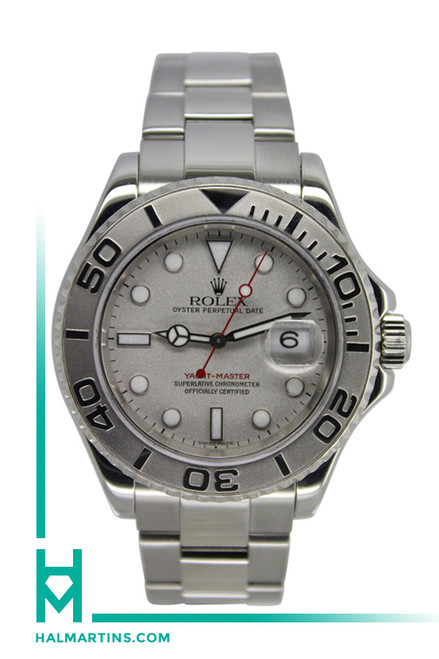 Rolex Stainless Steel Yachtmaster - Platinum Dial - 40mm - Ref. 16622