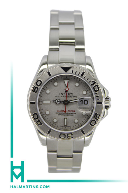 Rolex Ladies Stainless Steel And Platinum Yachtmaster - 29mm - Ref. 169622