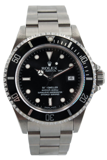 Rolex Stainless Steel Sea Dweller - Black Dial and Bezel - 40mm - Ref. 16600