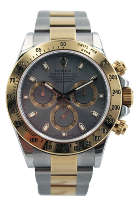 Rolex Two Tone Daytona - Silver Index Dial - 40mm - Ref. 116523