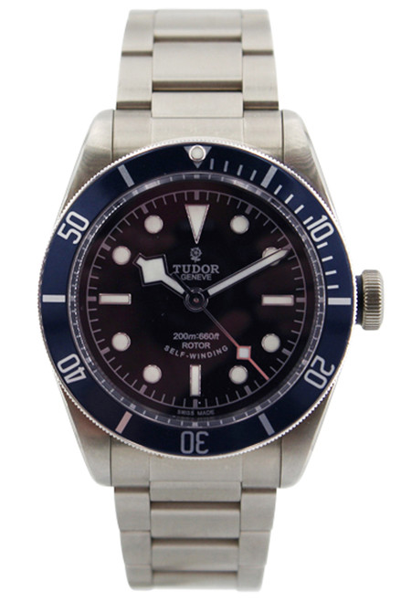 Tudor Heritage Black Bay - Stainless Steel - Blue Bezel - Black Dial - 41mm - On Bracelet - Ref. 79220B-95740