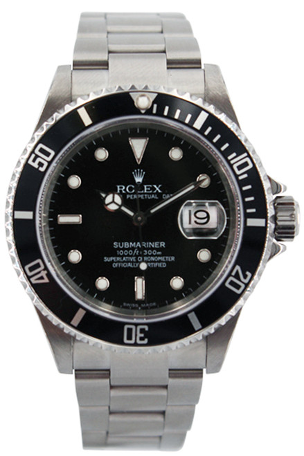 Rolex Stainless Steel Submariner Date - Black Dial - 40mm - Ref. 16610