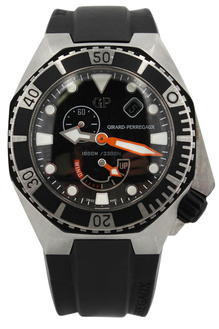 Girard Perregaux Sea Hawk - Stainless Steel - 44mm - Rubber Strap - Ref. 49960