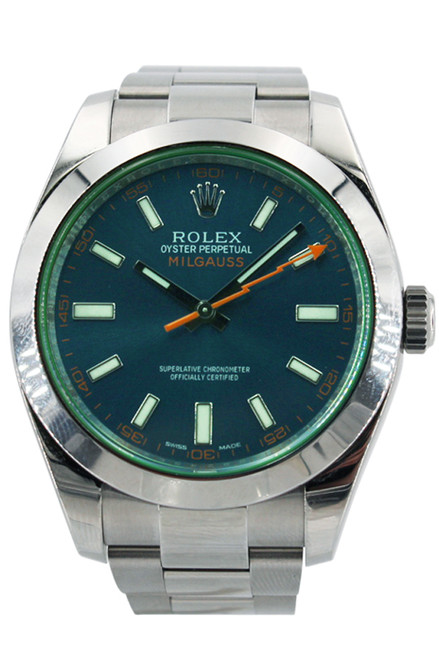 Rolex Milgauss - Blue Dial - Green Crystal - Stainless Steel - 40mm - Ref. 116400