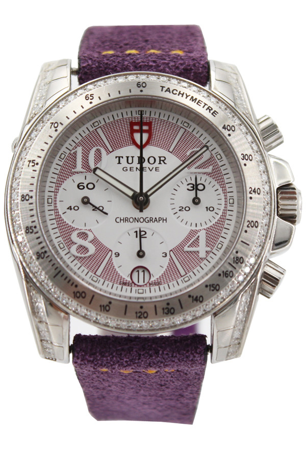 Tudor Classic 20310 with Purple and White Arabic Dial