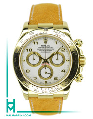 Rolex Daytona 116518 with White Arabic Dial