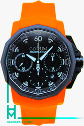 Corum Admiral's Cup Challenger 44 Chrono Rubber Orange