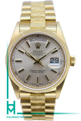 Rolex Day-Date President - Bark Finish - 18K Gold