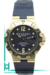 Bvlgari 18K Yellow Gold Scuba Automatic SD38 G