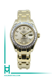 Rolex Lady Masterpiece Pearlmaster - 18K Yellow Gold - Diamond Bezel and Dial - Ref. 80308