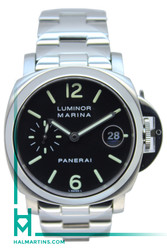 Panerai Stainless Steel Luminor Marina Automatic - Stainless Bracelet - Ref. PAM 50