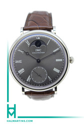 IWC Portofino Manual Wind Moon Phase - 18K White Gold - Ref. IW5448