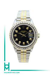 Rolex Lady Date Tridor - 18K White, Yellow and Rose Gold President Bracelet