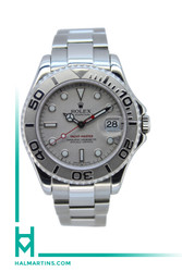Rolex Stainless Steel Yacht-Master Mid-Size 34mm - Platinum Dial and Bezel - Ref. 168622