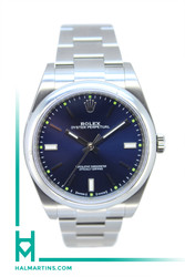Rolex Stainless Steel Oyster Perpetual 39mm - Blue Dial - Ref. 114300