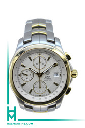 Tag Heuer 18K and Stainless Steel LINK Chronograph - White Dial - Ref. CJF2150