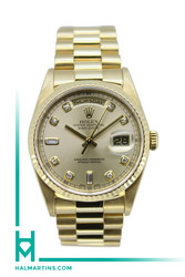 Rolex 18K Yellow Gold Day-Date President - Champagne Diamond Dial - Ref. 18238