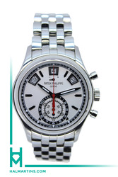 Patek Philippe Complications Annual Calendar Chronograph - Stainless Steel Silver Dial - Ref. 5960/1A
