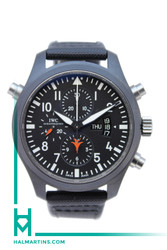 IWC Men's Top Gun Pilot's Double Chronograph - Black DLC - Ref. IW3799-01