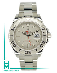 Rolex Stainless Steel Yacht-Master - Platinum Bezel and Platinum Dial - Ref. 16622