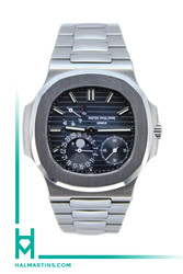 Patek Philippe Complications Nautilus Jumbo Moonphase - Blue Gradient Dial - Ref. 5712/1A