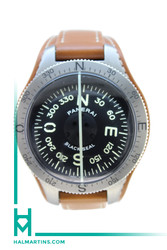 Panerai Black Seal Titanium Compass - Tan Leather Strap - Ref. PAM 191