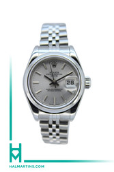 Rolex Lady Date Stainless Steel - Silver Baton Dial - Ref. 79160