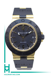 Bvlgari 18K and Black PVD Diagono Sport - Black Dial Automatic - Ref. AL 38 G