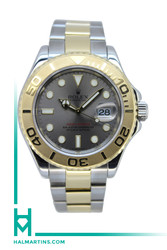 Rolex Men's Two Tone Yacht Master - Slate Grey Dial - Ref. 16623