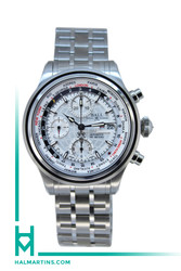 Men's Ball Stainless Steel Trainmaster World-Time GMT - Silver Dial - Ref. CM2052D
