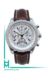 Breitling For Bentley Stainless Steel Chronograph - White Dial - Ref. A13362