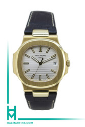 Patek Philippe 18K Yellow Gold Nautilus Automatic - Silver Dial - Ref. 5711J