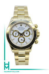 Rolex Men's 18K Yellow Gold Cosmograph Daytona - White Dial - Ref. 116528