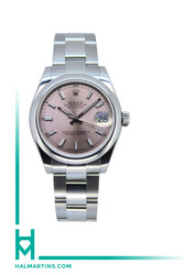 Rolex SS Datejust Midsize - Pink Baton Dial - Ref. 178240