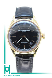 18K RG Baume & Mercier Classima Golden Ratio Auto - Black Dial - Ref. MOA08691
