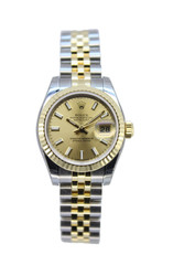 Rolex Ladies Datejust Two Tone - Champagne Dial - Ref. 179173