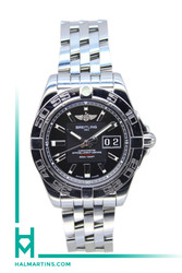 Breitling Men's SS Galactic 41 Automatic - Black Dial - Ref. A49350L2