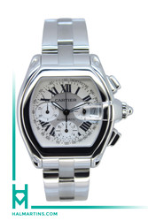 Cartier SS Roadster Automatic Chronograph - White Roman Dial - Ref. 2618