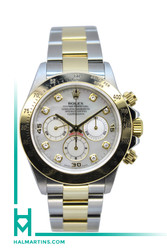 Rolex Men's Two Tone Daytona - Mother of Pearl Diamond Dial - Ref. 16523