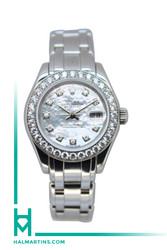 Rolex Lady Masterpiece Pearlmaster Datejust - MOP Diamond Dial and Full Diamond Bezel - Ref. 80299