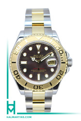 Rolex Men's Two Tone Yachtmaster - Tahitian MOP Dial - Ref. 16623